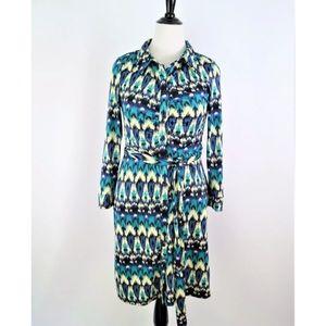 Everly grey new maternity Ikat knit shirt dress M